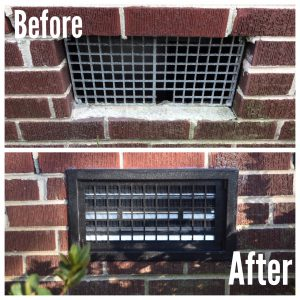 Crawl space Before and After repair